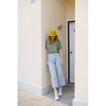 Sombrero de Copa Alta Carson color Oro - Sombrero Bucket 100% Algodón para mujer