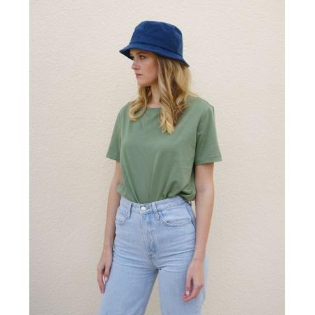 Sombrero Bucket Mujer Carson color Azul - Sombrero Bucket 100% Algodón para Mujer
