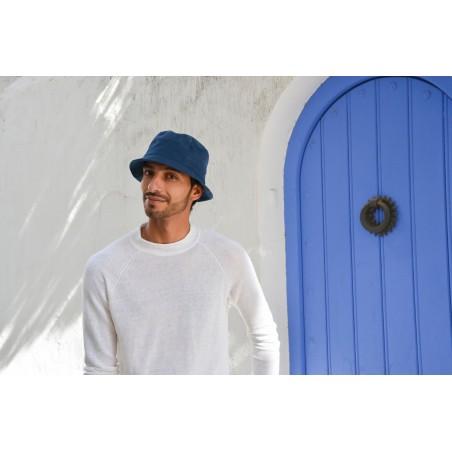 Carson Bucket Hat for Men - 100% Cotton - Foldable Hats Blue