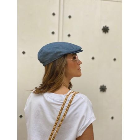 Gorra Plana Mujer Frank Azul Jeans - Peaky Blinders - Raceu Hats
