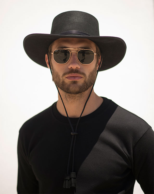 Sombreros Cowboy Hombres en color Negro
