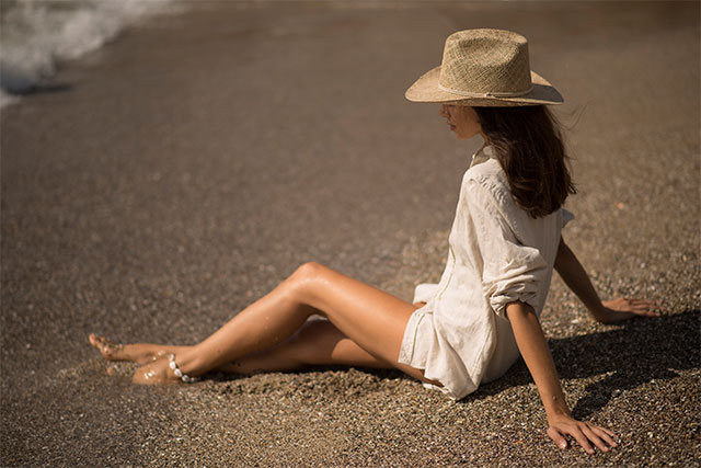 Sombreros Cowboy Mujer de Algas Marinas