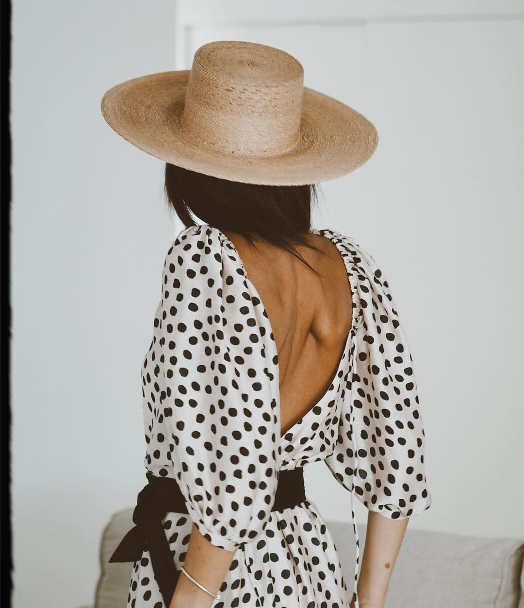 Boater Straw Hat Wedding Guest Look