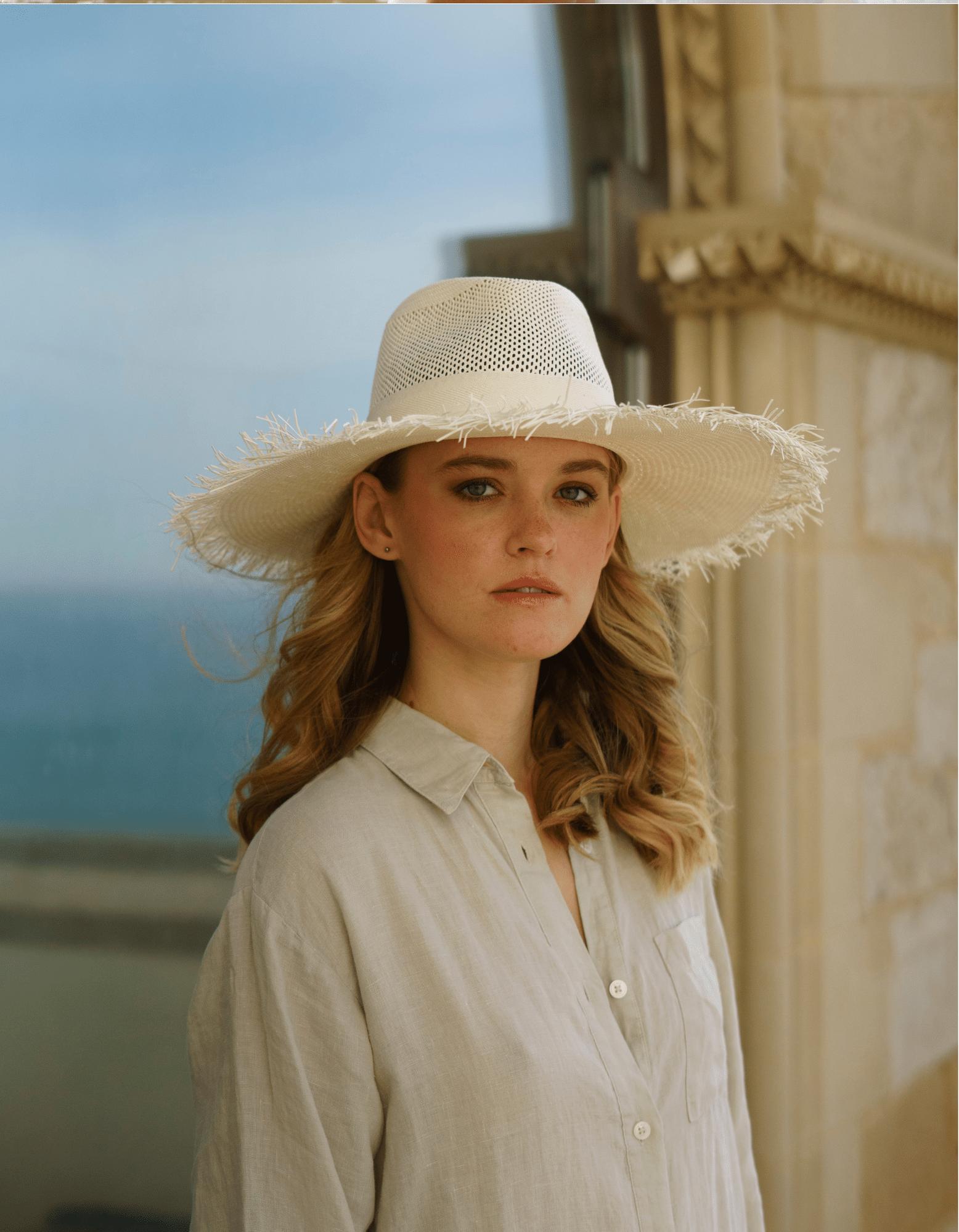 sombrero verano blanco paja