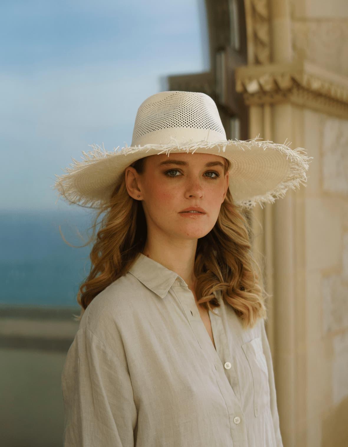 Frayed Brim Raffia Hat Summer style