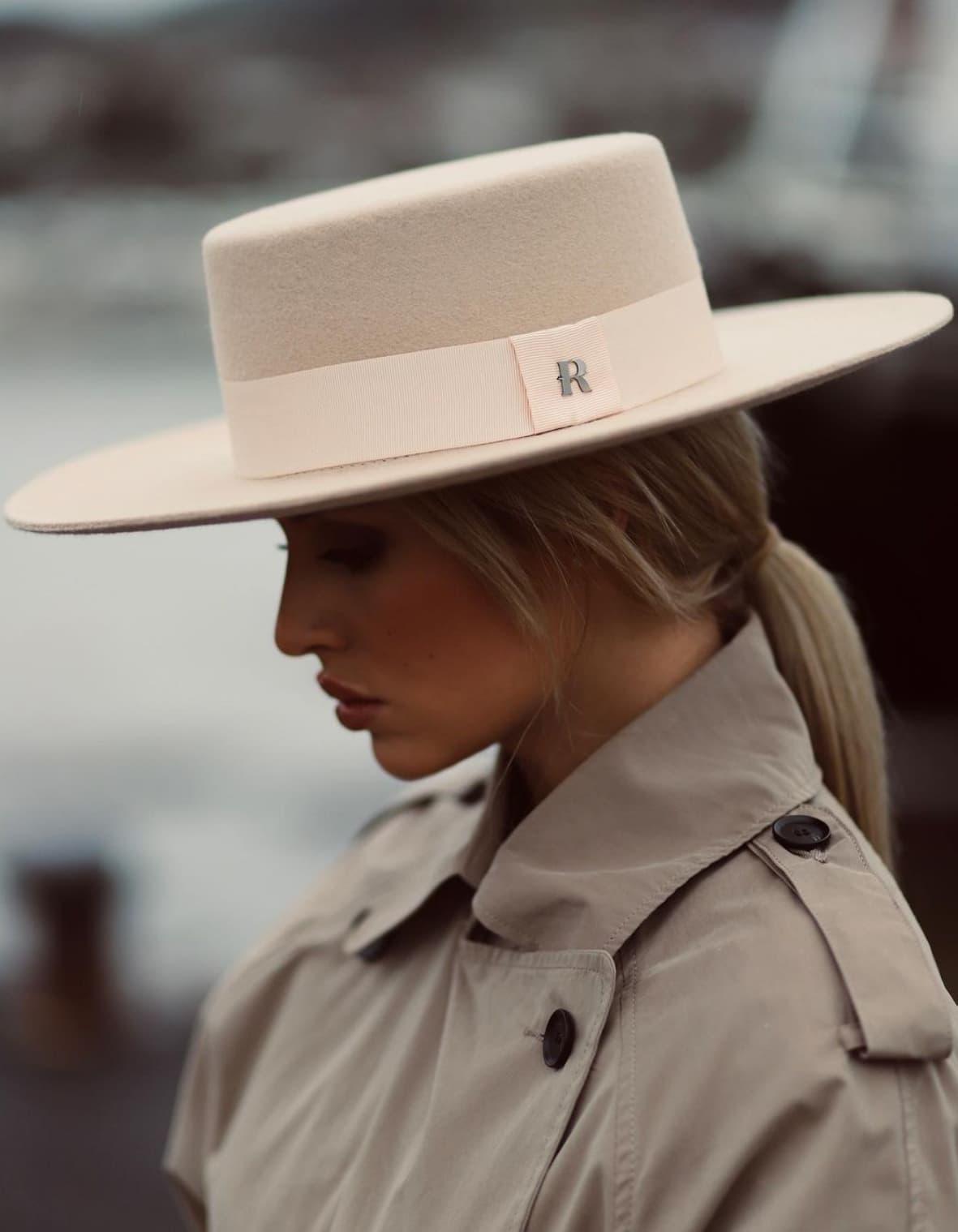 felt winter hat boater style