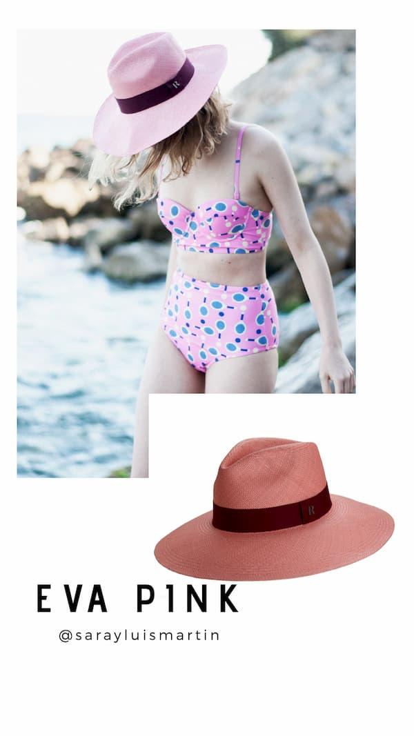 Sombrero Panamá Ala Ancha Eva Rosa