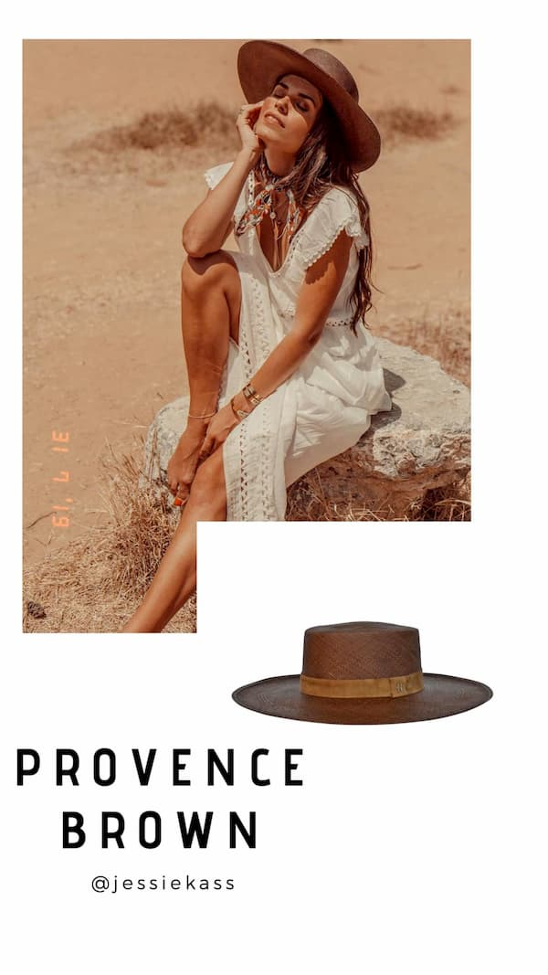 Canotier Panama Hat Provence Brown