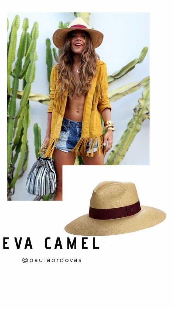 Sombrero Panamá Ala Ancha Eva Camel