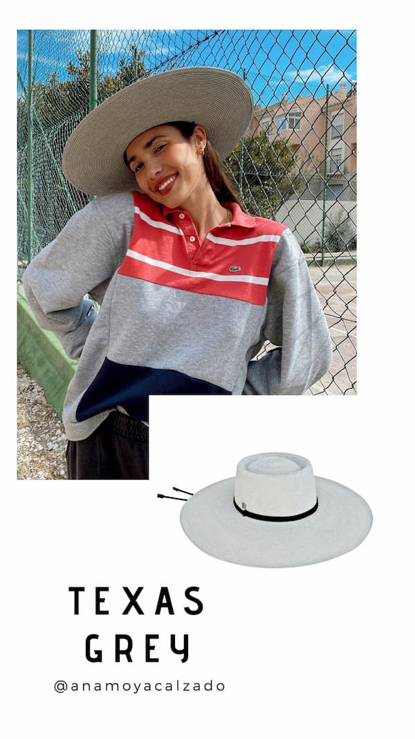 Texas Wide-brimmed Hat - Grey