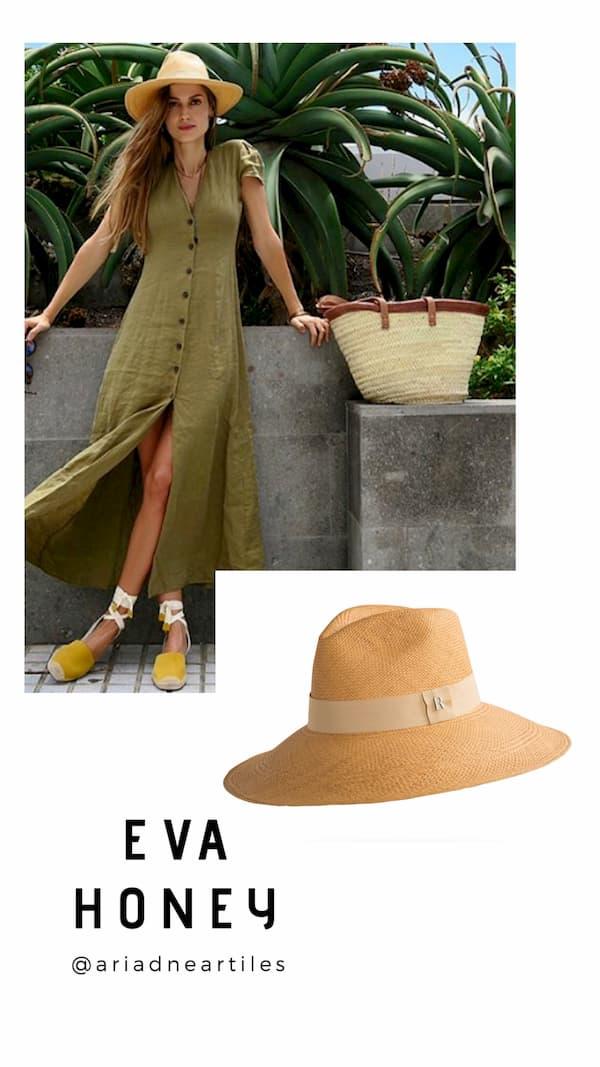 Sombrero Panamá Ala Ancha Eva miel