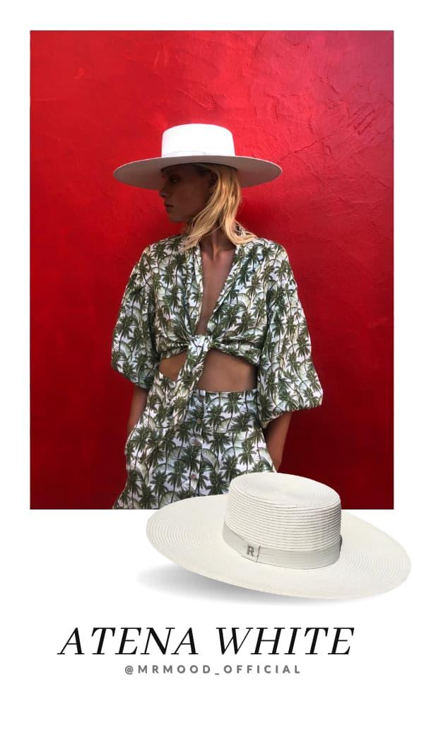 Sombrero de Fibra Vegetal Ala Ancha Atena