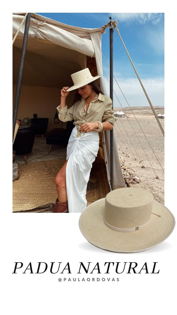 Sombrero Canotier Panamá Padua Natural