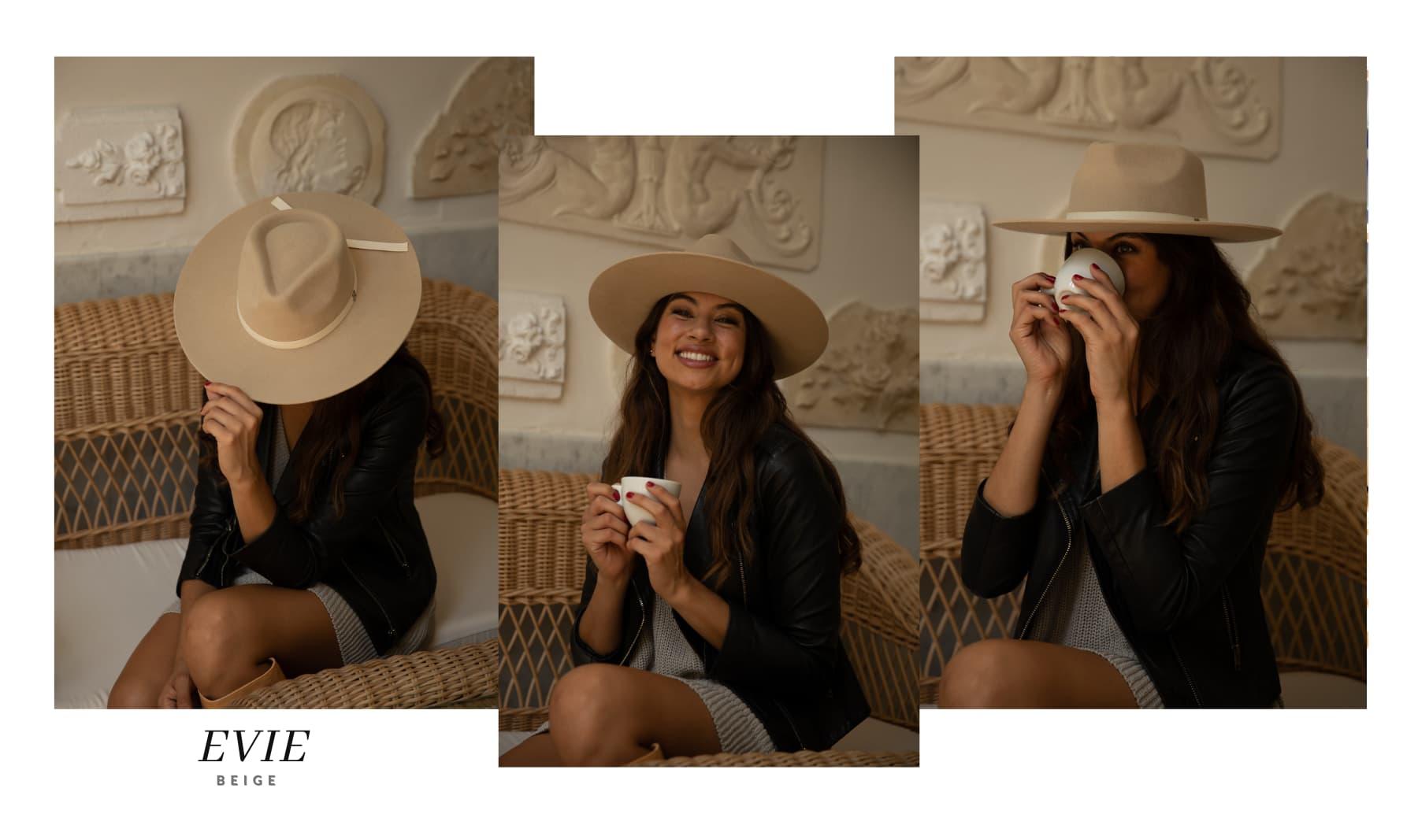 Sombrero de Fieltro Mujer Evie