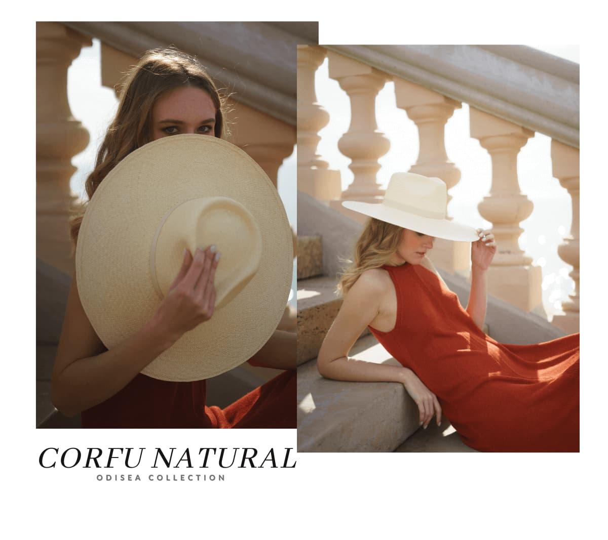 Sombrero Panamá Ala Ancha Corfu Color Natural
