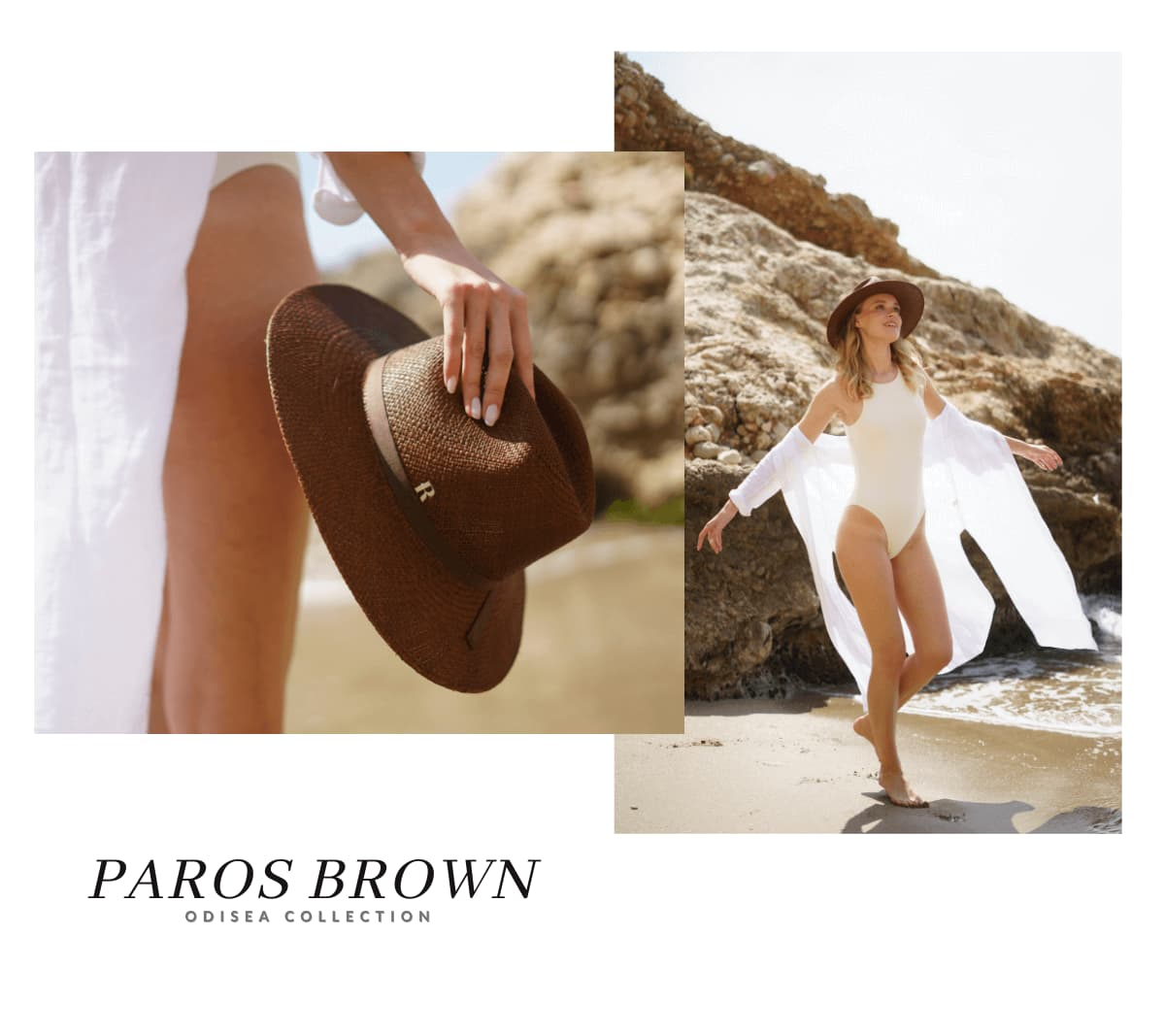 Sombrero Panamá Mujer Paros Marrón