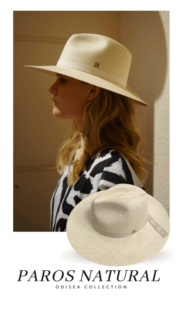 Sombrero Panamá Mujer Paros Natural